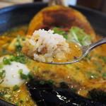 Spice&mill - じっちゃんの百年味噌カレー(ライスをスープに浸して食べる)