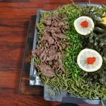 瓦そば 田舎 - 料理写真:瓦そば 一人前1000円(写真は二人前)