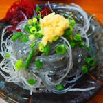 磯料理 魚の「カネあ」 - 2019/8/24 ランチで利用。 みさきまぐろきっぷで利用。 生しらす(640円)