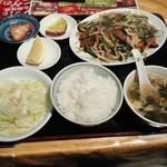 大衆酒場 酔仙 - ニラレバ定食730円
