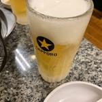 114377415 - まずはビール‼︎                         2019/7  by みぃこのごはん日記