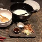 日がさ雨がさ - * 北海道産大豆の手造り豆腐 650円