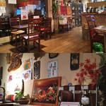 タイ料理サバイ・サバイ - 店内は良さげな雰囲気。ちょっと情報量多いけどな(笑