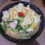 114384811 - 牛骨タンメン(塩) 麺大盛 野菜増し
