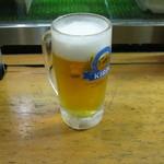 居酒屋 天金 - 生ビールです。