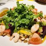 ル バー ラヴァン サンカンドゥ アザブ トウキョウ - 料理写真:海老とパクチーの10品目サラダ