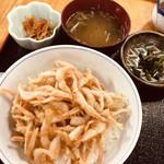 さかな屋 撰鮮 - 白海老天丼 980円