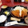 かつ廣 - 料理写真:特上大厚ロースかつ膳 1,250円(税込)。