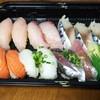 もり一 - 料理写真:テイクアウト6皿(シメサバ、アジ、エンガワ、ビントロ、サーモン、ハマチ)