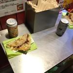 キャベツ焼 - キャベツ焼とテーブル(2019.8.12)