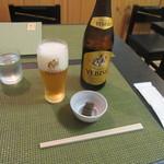 114414895 - 瓶ビール・お通し