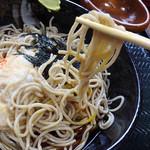 穂の香 - 料理写真:冷やしとろろそばセット(おむすび、サラダ付き)710円税込+そば大盛り100円税込