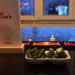Sports Bar One's - きゅうりの漬物からし漬けと白キムチ漬け