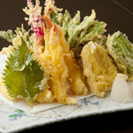 恩納つばき - 本格的天ぷら盛り合わせ1500円