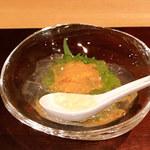 114426885 - むらさき雲丹 鯛出汁の煮凝り