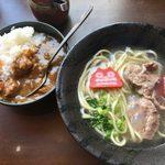 kandaotonanookinawaryouritengushiken - 「昼のソーキそば(小)とミニカレーセット」880円