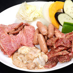 やきやき亭 - 肉盛り_タレ