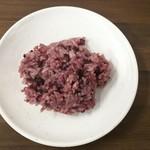 やっぱりステーキ - 黒米ご飯