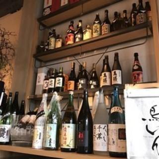 全国各地の地酒と九州の銘柄焼酎