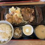 餃子酒場 神田今川橋いち五郎 - 生姜焼き&唐揚定食880円