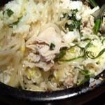 hwaja - ランチ石鍋和風まぜご飯 800円 混ぜた後