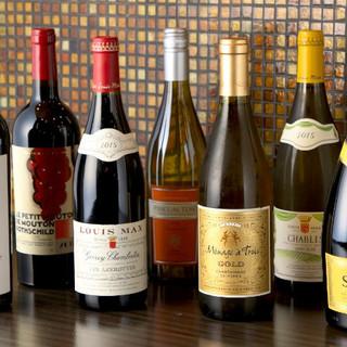 赤・白・泡と充実のワイン◆お茶で〆る贅沢なひと時も是非ー…