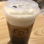 綿茶 - チーズミルクフォーム四季春の黒糖タピオカトッピング @670円