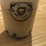 綿茶 - 表面のチーズミルク層と紅茶を混ぜてみました。