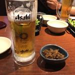 北の味紀行と地酒 北海道 - ビールで乾杯❗️お通しで⭐️