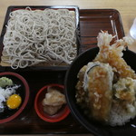 湯蕎庵 味津肥盧 - 料理写真:数量限定天丼セット1100円