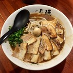 永斗麺 - サンマらーめんの煮豚バラトッピング