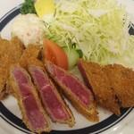 京橋モルチェ - ビーフのレアカツ おろしポン酢とわさびで