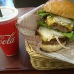 CAFE EURO - 黒毛和牛バーガー(ダブル)、Aセット