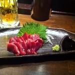 とりしん - ズリの刺身380円