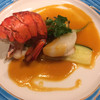 レストランあざれあ - 料理写真:帆立の貝柱とアワビ オマール海老のポワレ