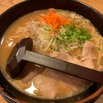 114486654 - 古潭ラーメン(麺中盛り)