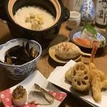 創作天ぷらと炭焼きワイン はかたあゆむ - 9月コース