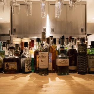 厳選された洋酒も◎ドリンクの種類も豊富に取り揃えております。