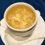 中国料理 The Orchid - フカヒレと玉子のスープ