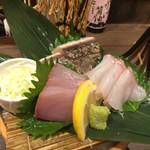 海鮮・串焼き 満天 - 刺身3種盛り