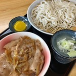 そば ほし乃家 - 料理写真:豚丼セット 800円