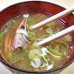 美たか鮨 - 甘エビの頭の味噌汁