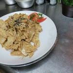 恵比須軒 - 乾隆白菜/清の皇帝乾隆帝が、お忍びで食べた生の白菜のゴマ味噌と蜂蜜和え。