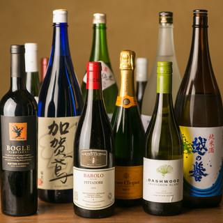 こだわりのワインや日本酒