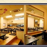相撲茶屋 寺尾 - お座敷の小上がり席と、半個室の椅子席のご用意がございます。
