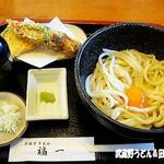 讃岐うどん 福一 - 2012年1月 釜玉+天ぷら