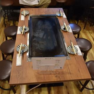 テーブル席は10名様まで!大人数のお集まりにも◎