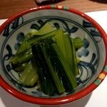 黒門町焼き鳥 たがみ - 京都小松菜のお浸し