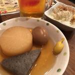 立ち呑み屋 - ◆だいこん こんにゃく 各120 ◆煮卵 100