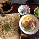 源 - 料理写真:ざるそばとミニ鉄火丼  890円税込